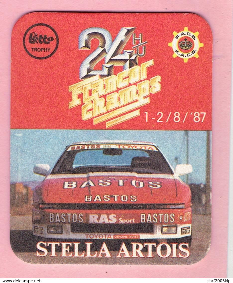 Bierviltje - STELLA ARTOIS - 24 H/U FRANCORCHAMPS - 1987 - Sous-bocks
