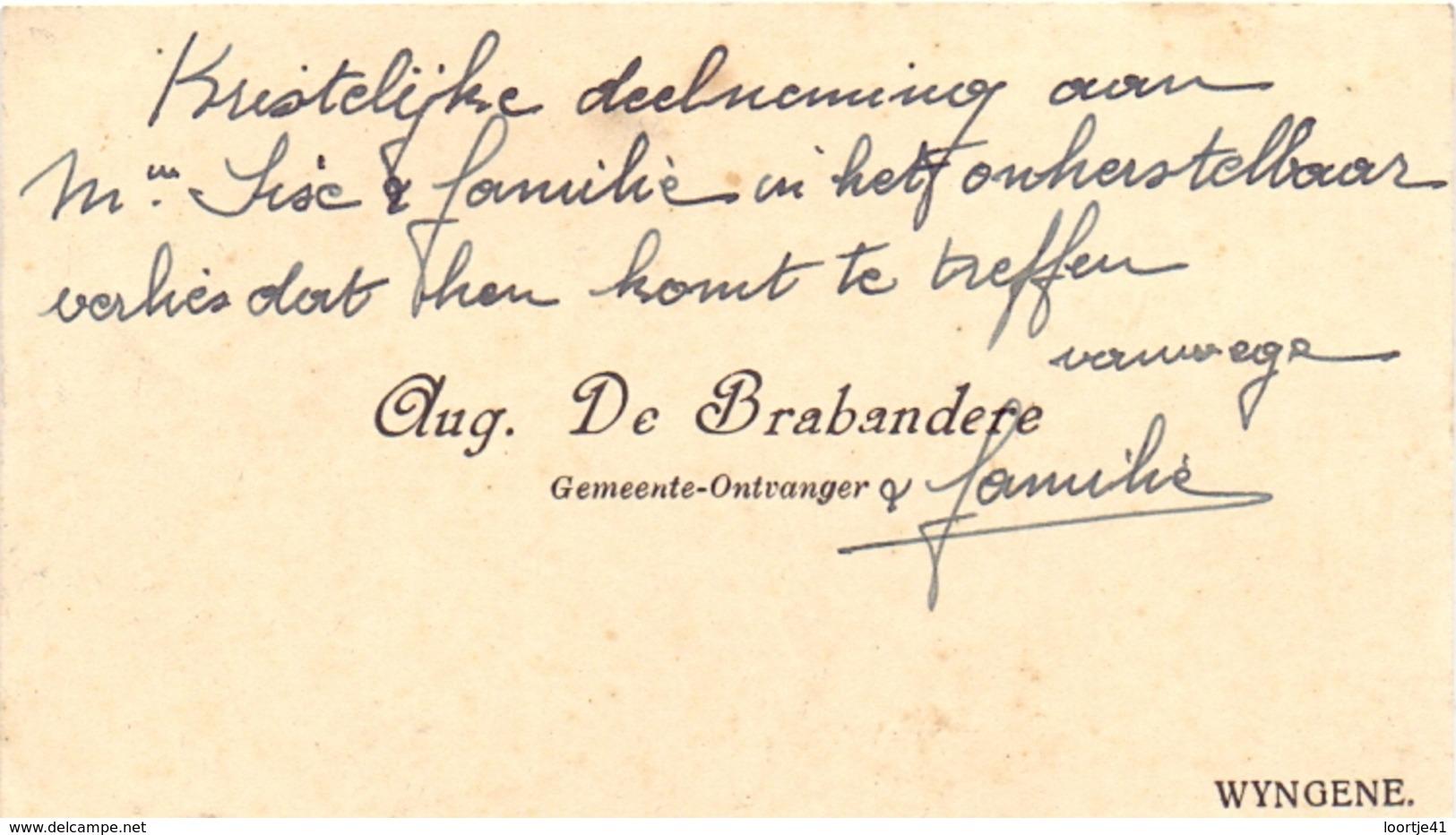 Visitekaartje - Carte Visite - Gemeente Ontvanger Aug De Brabandere - Wingene - Cartes De Visite