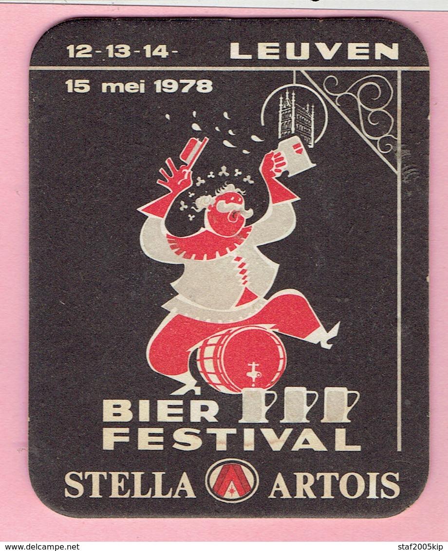 Bierviltjes - STELLA ARTOIS - Bierfestival LEUVEN 1978 - Sous-bocks