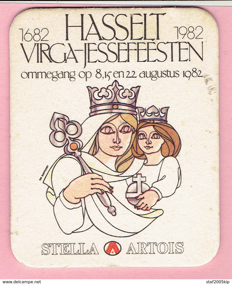 Bierviltjes - STELLA ARTOIS - Hasselt - VIRGA-JESSEFEESTEN - Ommegang 1982 - Sous-bocks