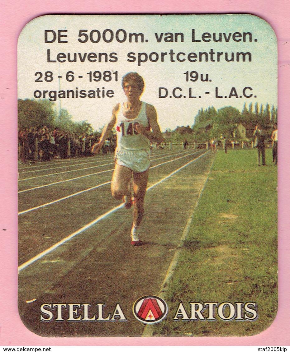 Bierviltjes - STELLA ARTOIS - De 5000m Van Leuven - 1981 - Organisatie D.C.L. - L.A.C. - Sous-bocks
