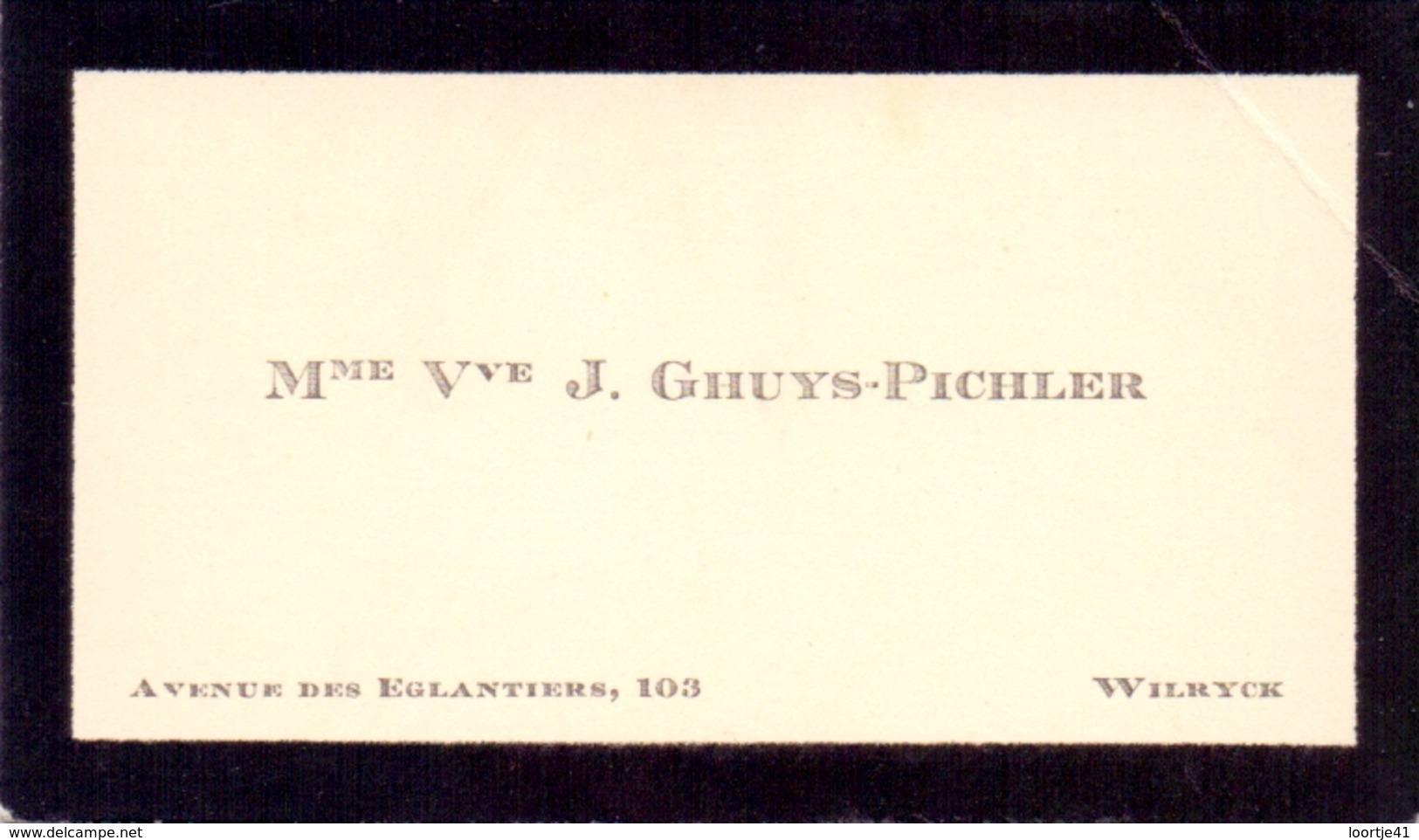 Visitekaartje - Carte Visite - Mme Vve J. Ghuys - Pichler - Wilrijk - Cartes De Visite