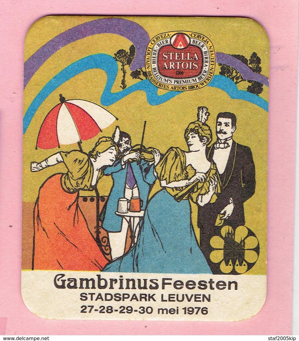 Bierviltjes - STELLA ARTOIS - Gambrinus Feesten - Stadspark Leuven 1976 - Sous-bocks