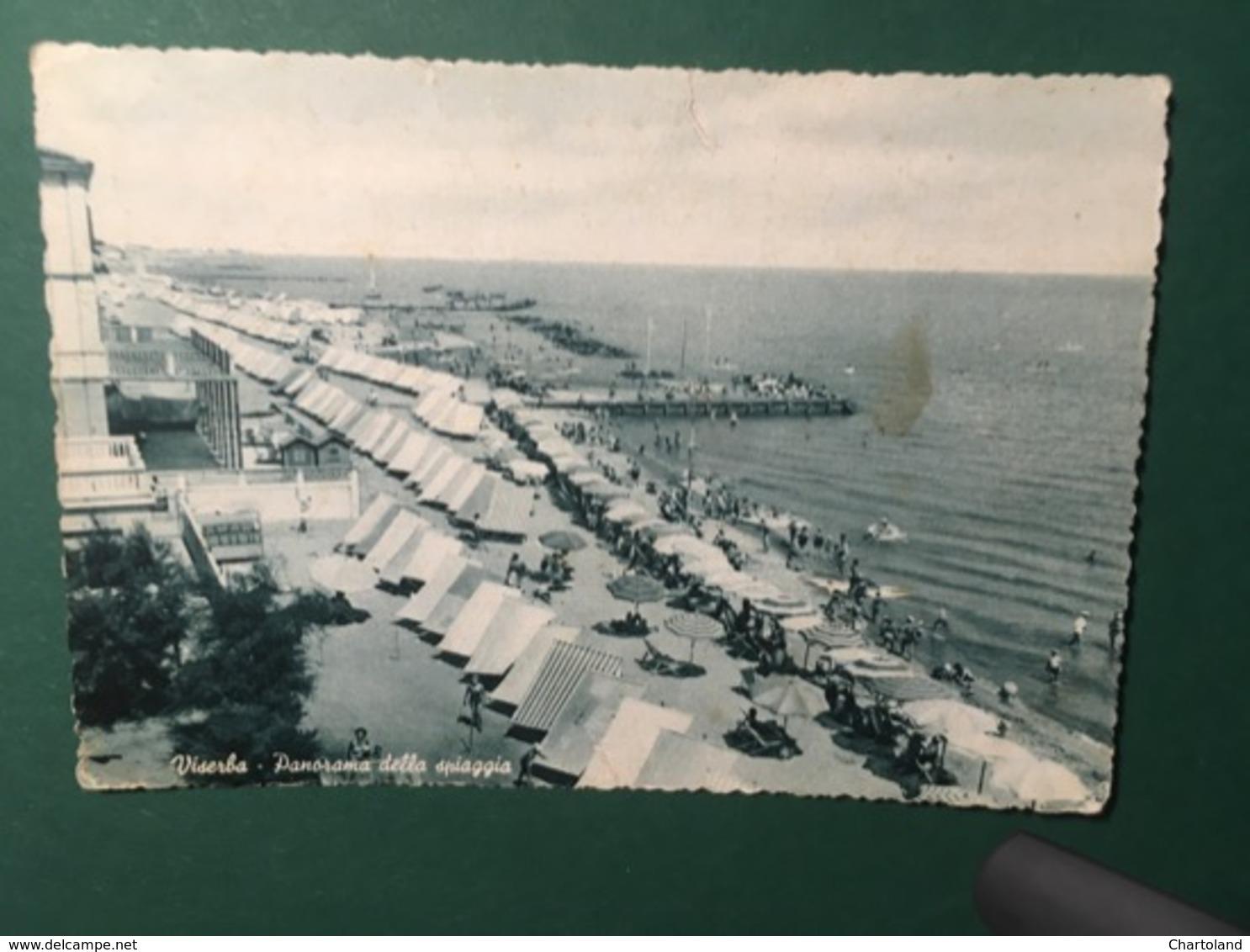 Cartolina Viserba - Panorama Della Spiaggia - 1956 - Rimini