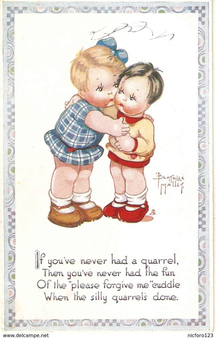 """Beatrice Mallet. If You've Neer Had A Quarrel....."" Tuck Oiette Cute Kiddies Series PC # 3595 - Tuck, Raphael"