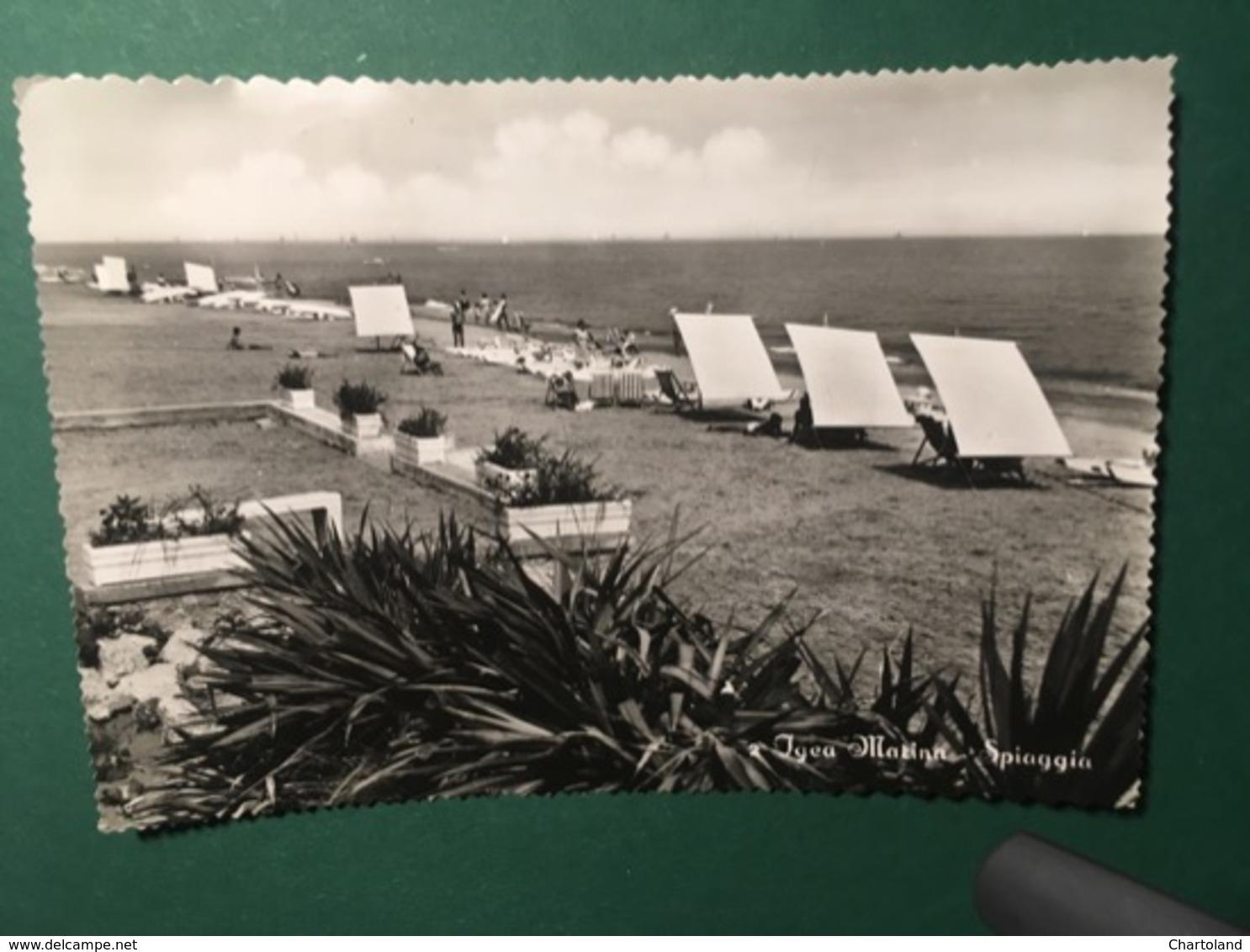 Cartolina Igea Marina - Spiaggia - 1953 - Rimini