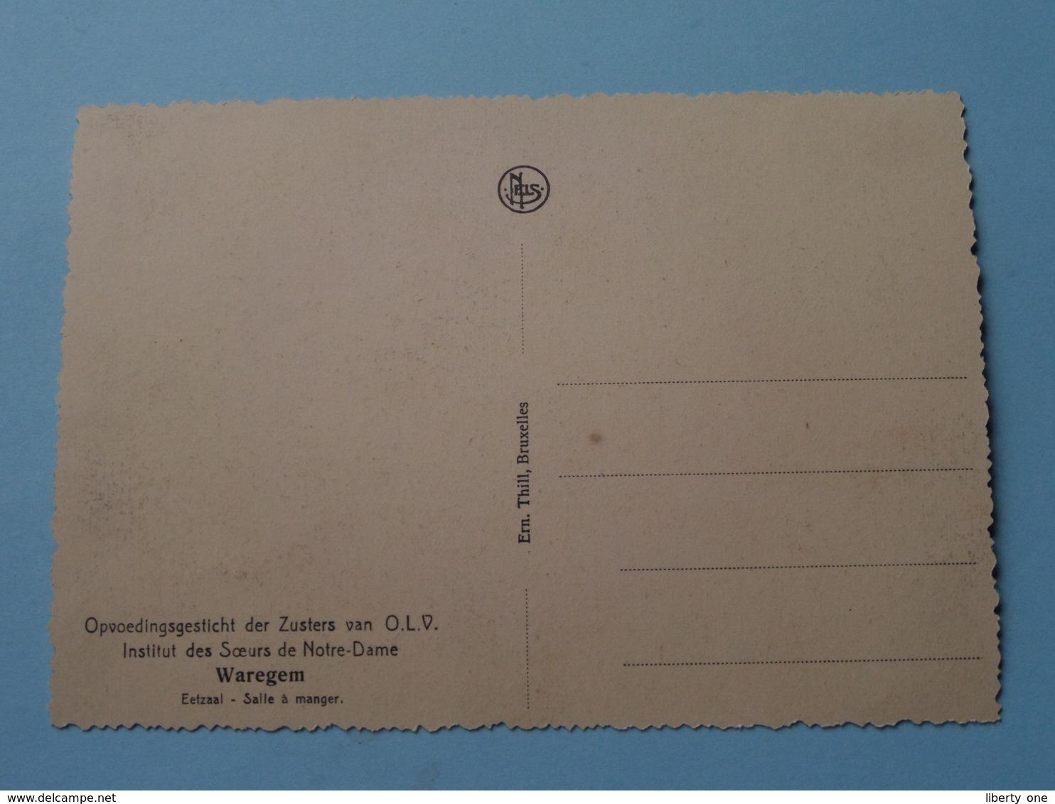 Opvoedingsgesticht Der Zusters Van O.L.V. - Eetzaal ( Thill ) Anno 19?? ( Details Zie Foto ) ! - Waregem
