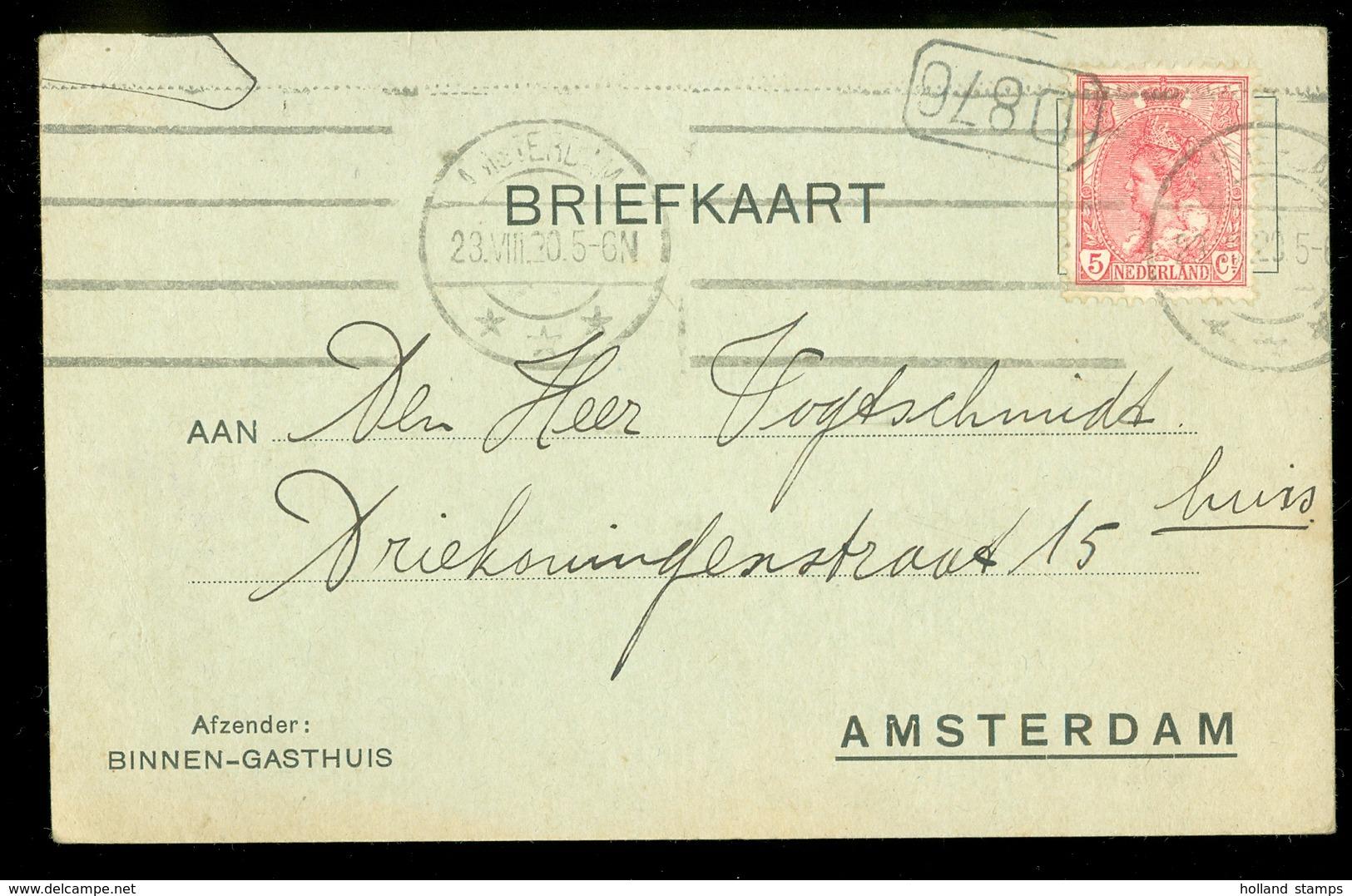 BRIEFKAART Gelopen In 1905 Van LOKAAL AMSTERDAM  (11.508c) - Brieven En Documenten
