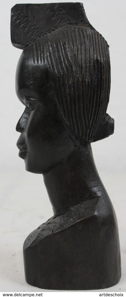 Grand Buste En ébène Coiffure Du Togo - Art Africain