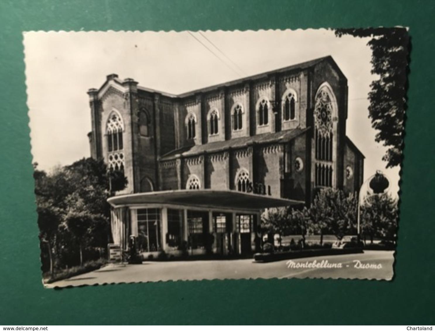 Cartolina Montebelluna - Duomo - 1957 - Treviso