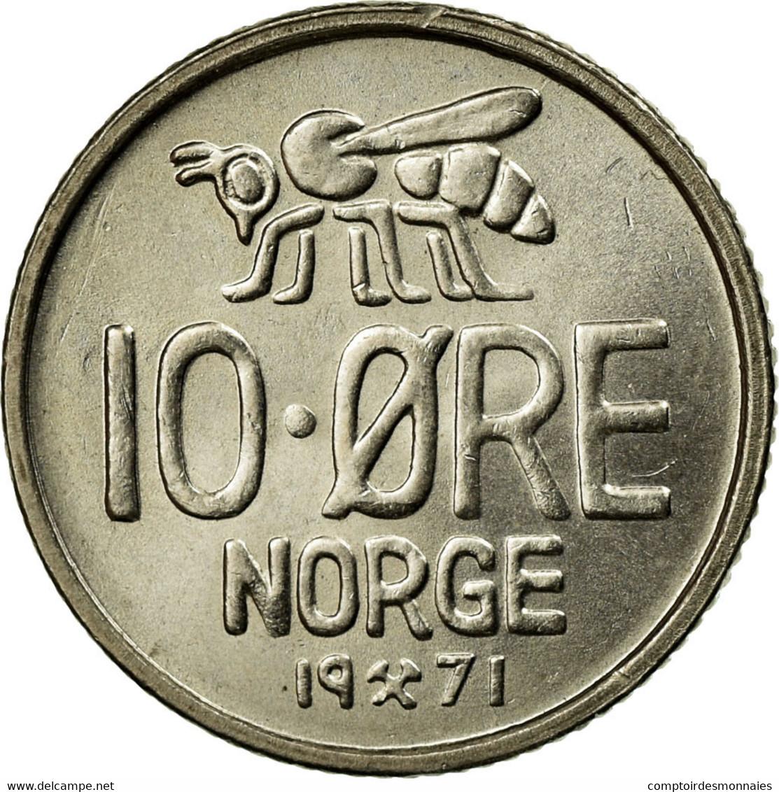 Monnaie, Norvège, Olav V, 10 Öre, 1971, SUP, Copper-nickel, KM:411 - Norvège