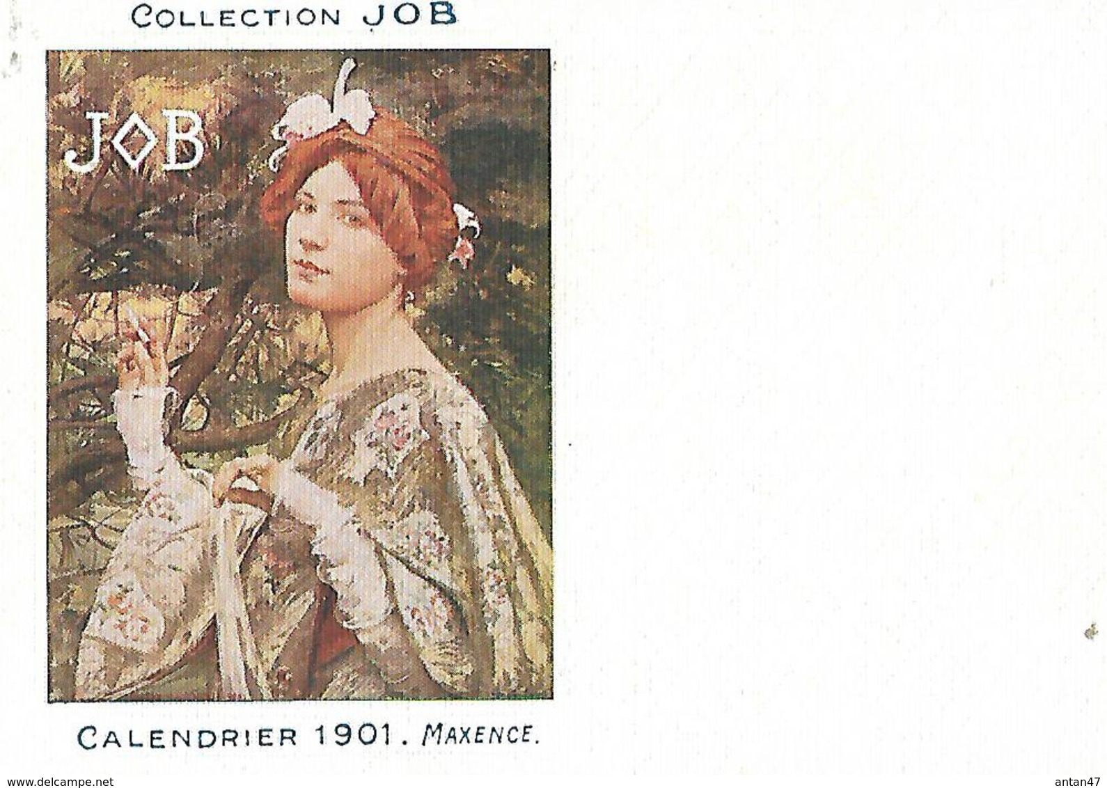Calendrier (14 X 9 Cm) Collection JOB / 1901 / MAXENCE - Calendars