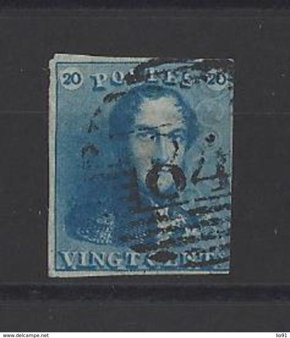 BELGIQUE  YT  N° 2  Obl  1849 - 1849 Epaulettes