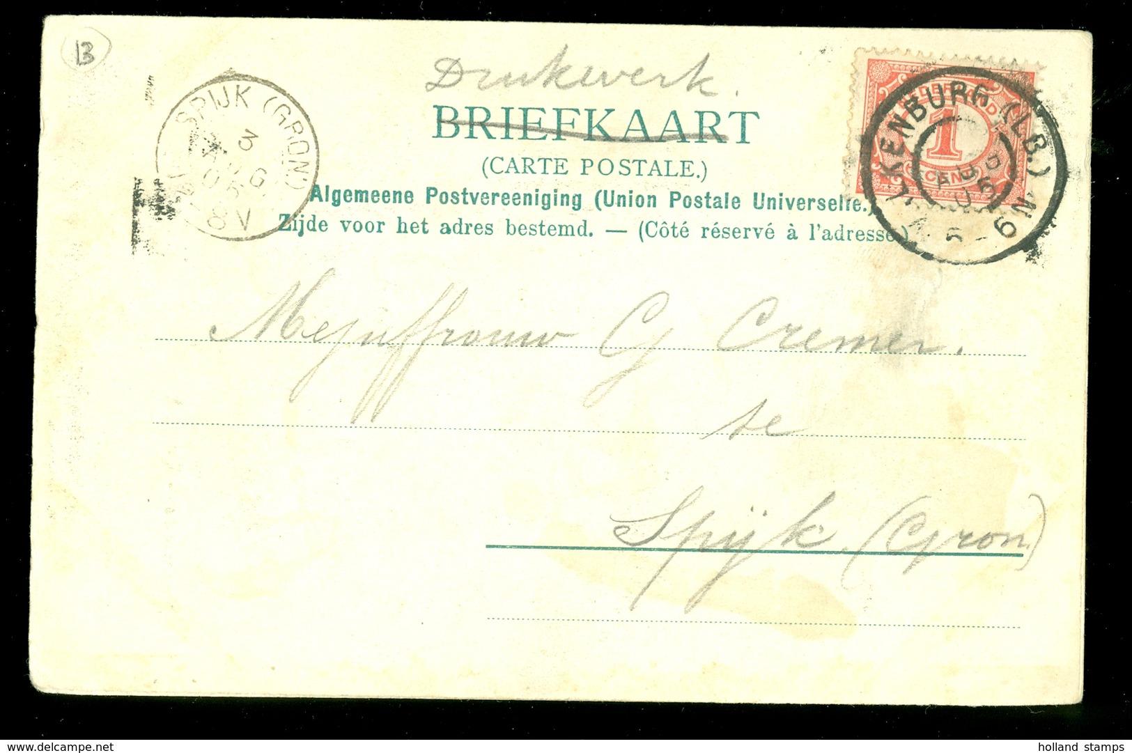 GESCHREVEN BRIEFKAART Gelopen In 1905 Van VALKENBURG Naar SPIJK (GRONINGEN)  (11.508p) - Brieven En Documenten
