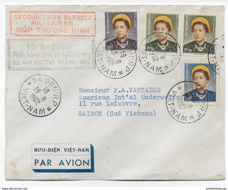 VIETNAM - 1952 - ENVELOPPE SECOURS AUX BLESSES MILITAIRES à SAÏGON - SERIE IMPERATRICE - Viêt-Nam