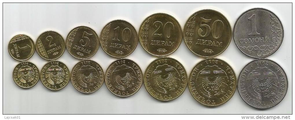 Tajikistan 2011. Set Of 7 High Grade Coins - Tadjikistan