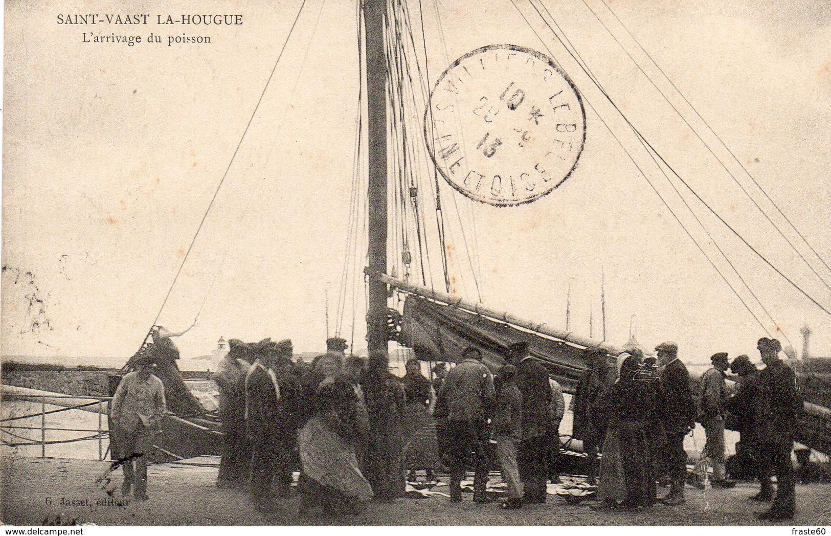Saint Vaast La Hougue - L ' Arrivage Du Poisson - Saint Vaast La Hougue