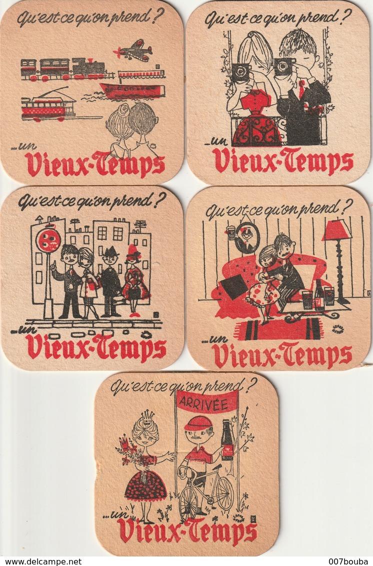 Sous-bocks Vieux-temps - Lot De 5 - Sous-bocks