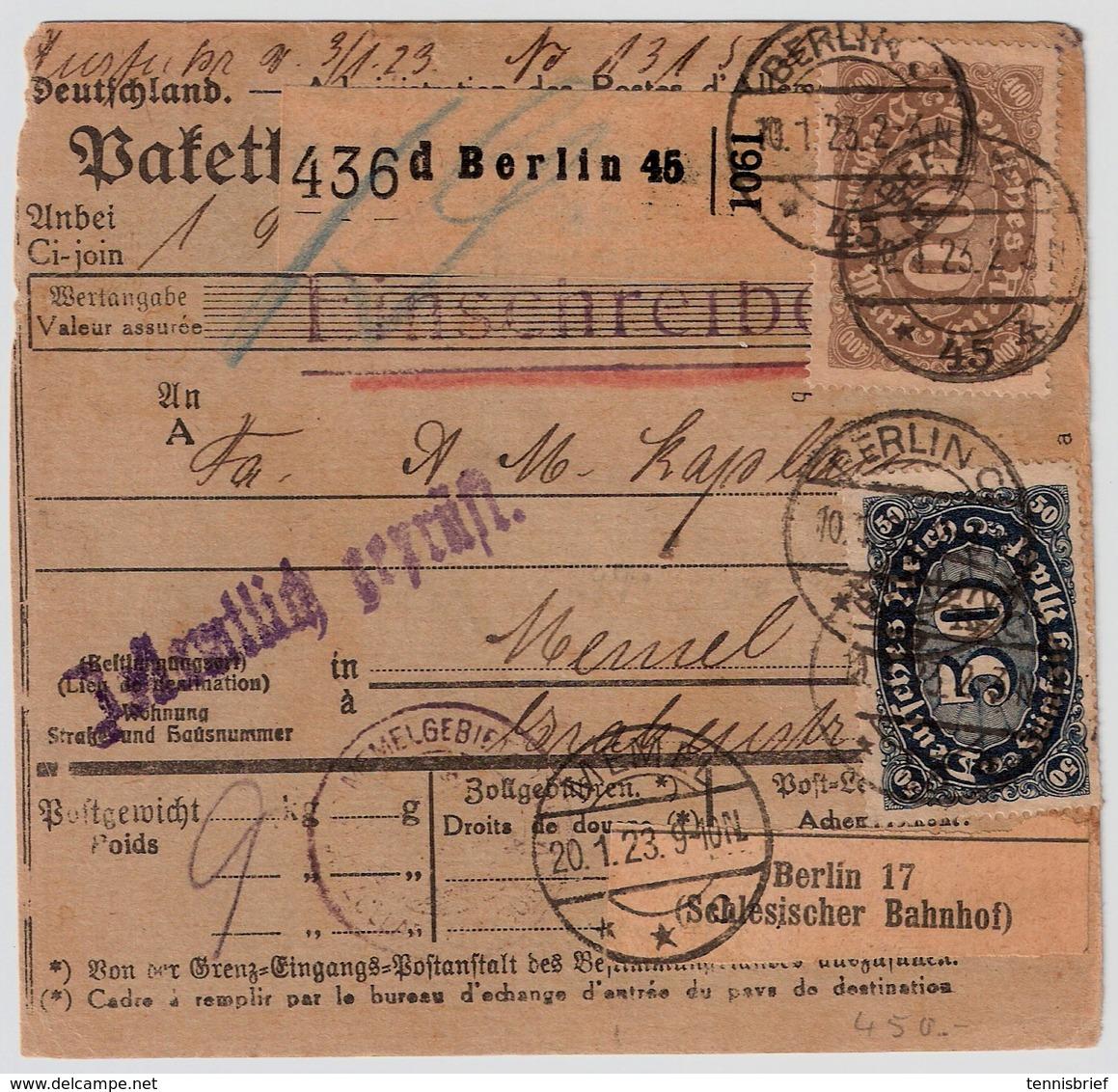 DR, 1923, Nr. 222b, Mi. 250.- Geprüft !    , #a1938 - Briefe U. Dokumente
