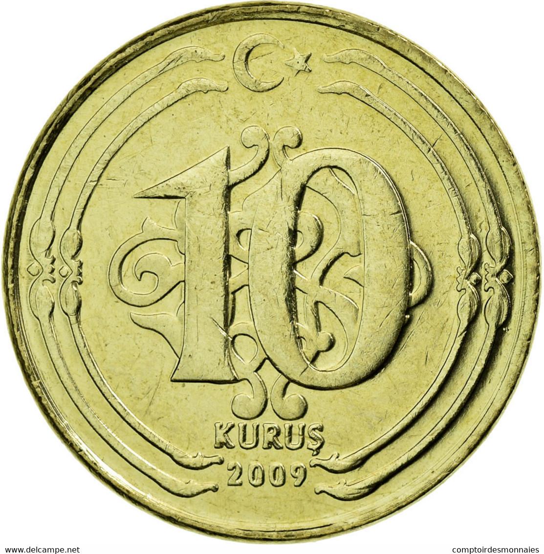 Monnaie, Turquie, 10 Kurus, 2009, SUP, Laiton, KM:1241 - Turquie