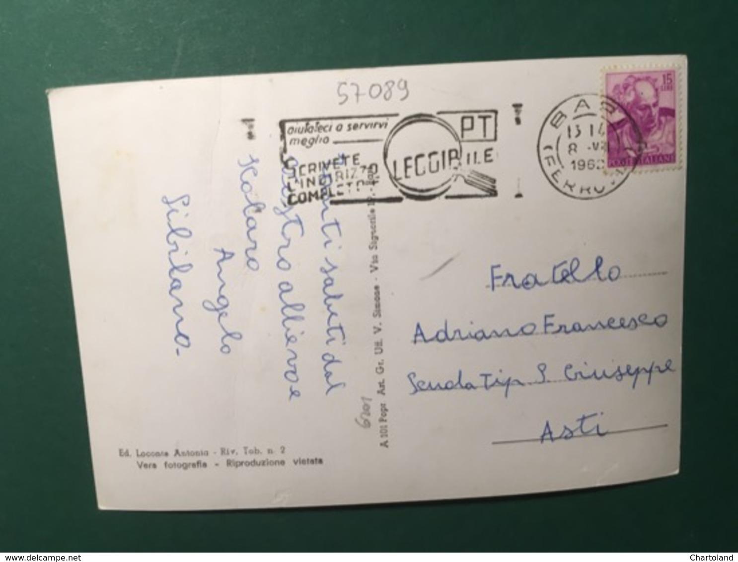 Cartolina Bitritto - Villa Comunale E Monumenti Ai Caduti - 1962 - Bari