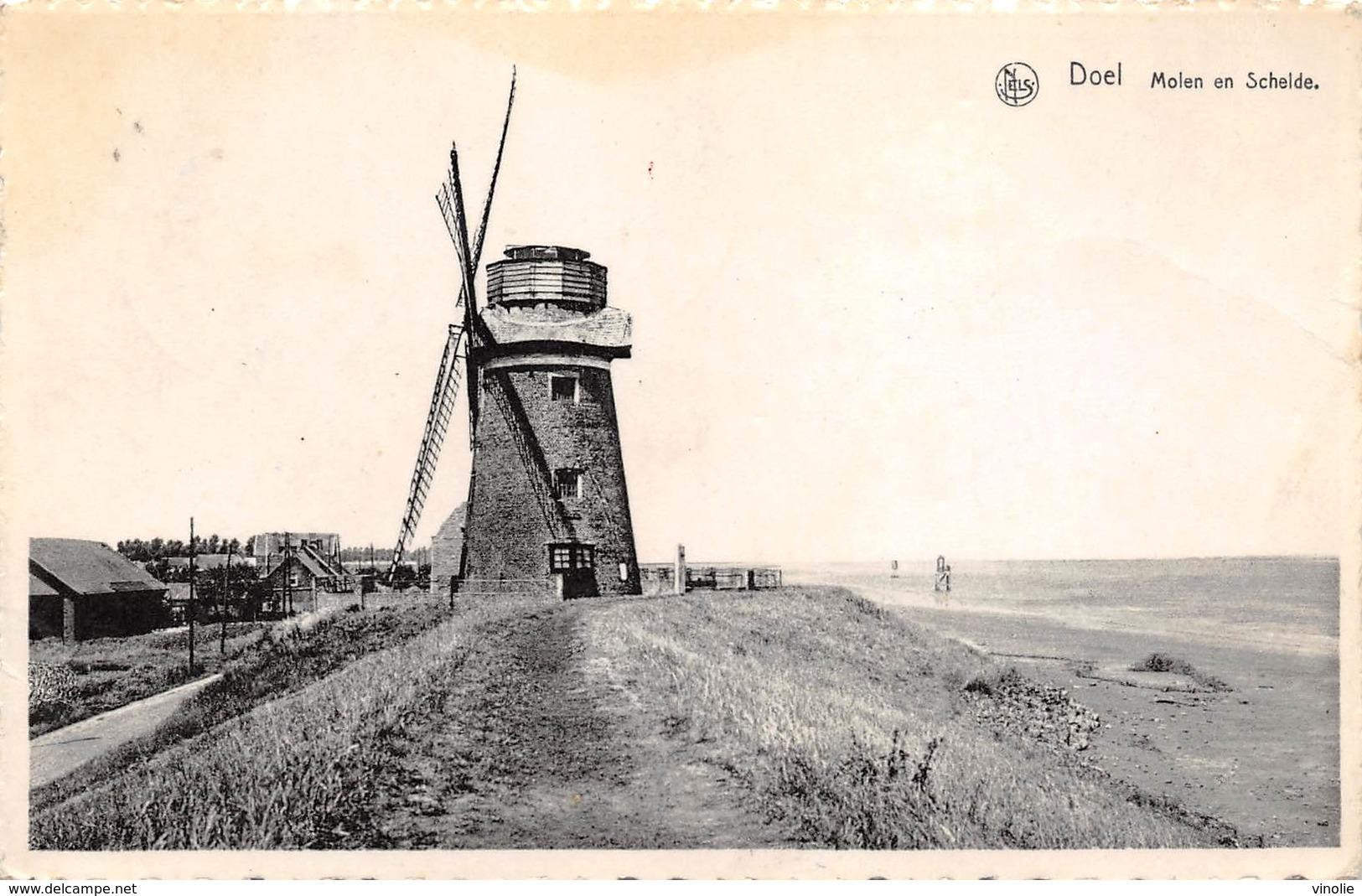 A-19-2115 : MOULIN A VENT . MOLEN.  DOEL AAN SCHELDE. BELGIQUE. - Windmills