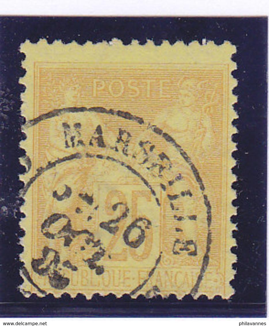 France, Sage  ,  N°92a,  Oblitération Marseille,  ( 1901/047) - 1876-1898 Sage (Type II)