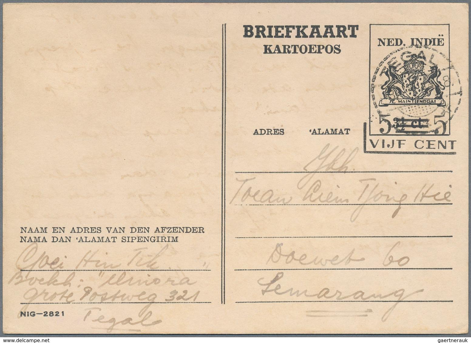 Niederländisch-Indien: 1878/1949 (ca.), Stationery Cards/envelopes Mint (25) And Used (27) Inc. Upra - Indes Néerlandaises