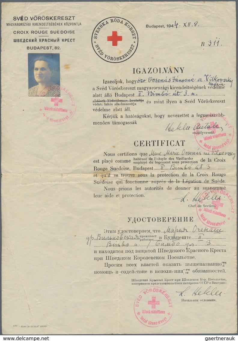 Thematik: Judaika / Judaism: 1944/1945, Sweden/Hungary, Group Of 5 Protecting Passports Respectively - Briefmarken