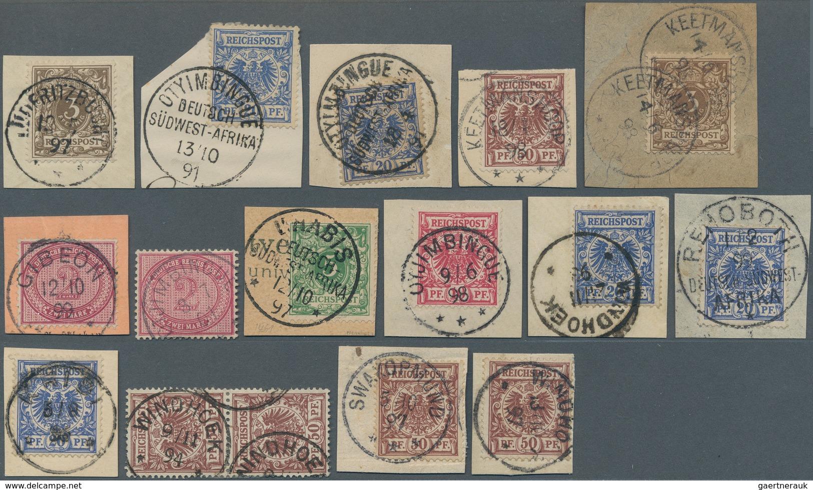 Deutsch-Südwestafrika - Vorläufer: 1891/1901, Partie Von 16 Werten, Meist Auf Briefstück Und Teils S - Kolonie: Deutsch-Südwestafrika