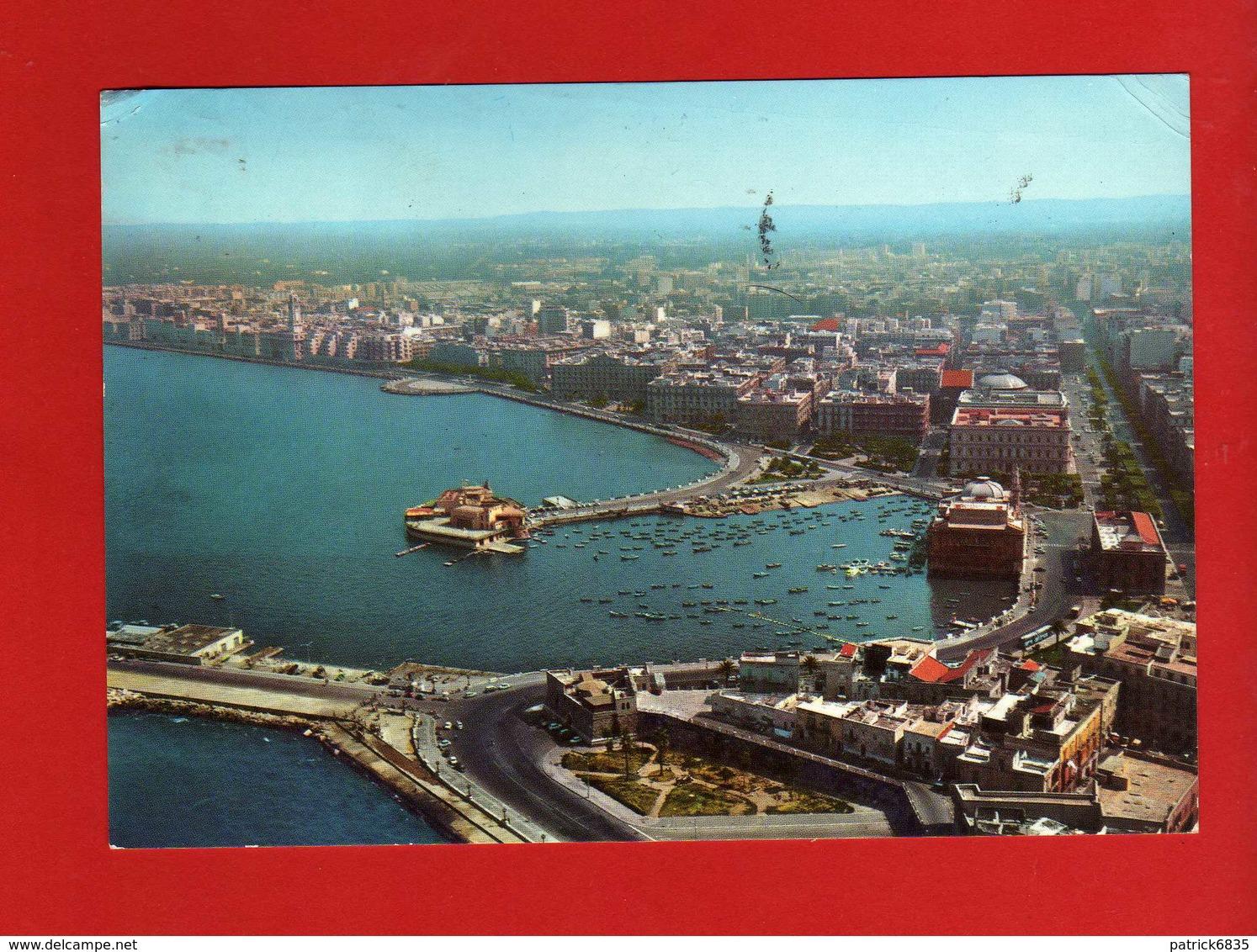 BARI - VEDUTA PANORAMICA Dall'AEREO.   Viaggiata 1966.   Vedi Descrizione. - Bari