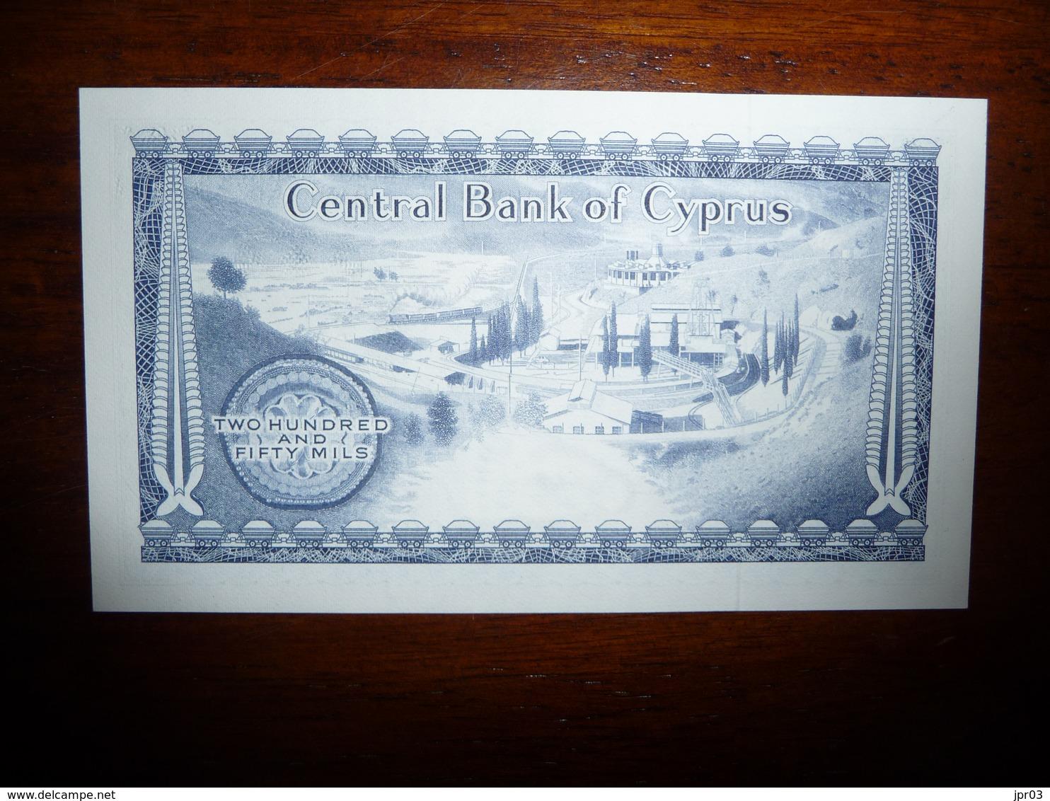 CHYPRE * CYPRUS  250 MILS 1.06.1982 - NEUF   UNC - Chypre