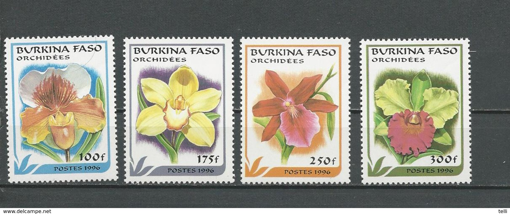 BURKINA Scott 1083-1086 Yvert 994A-994D (4) ** Cote 9,00$ 1996 - Burkina Faso (1984-...)