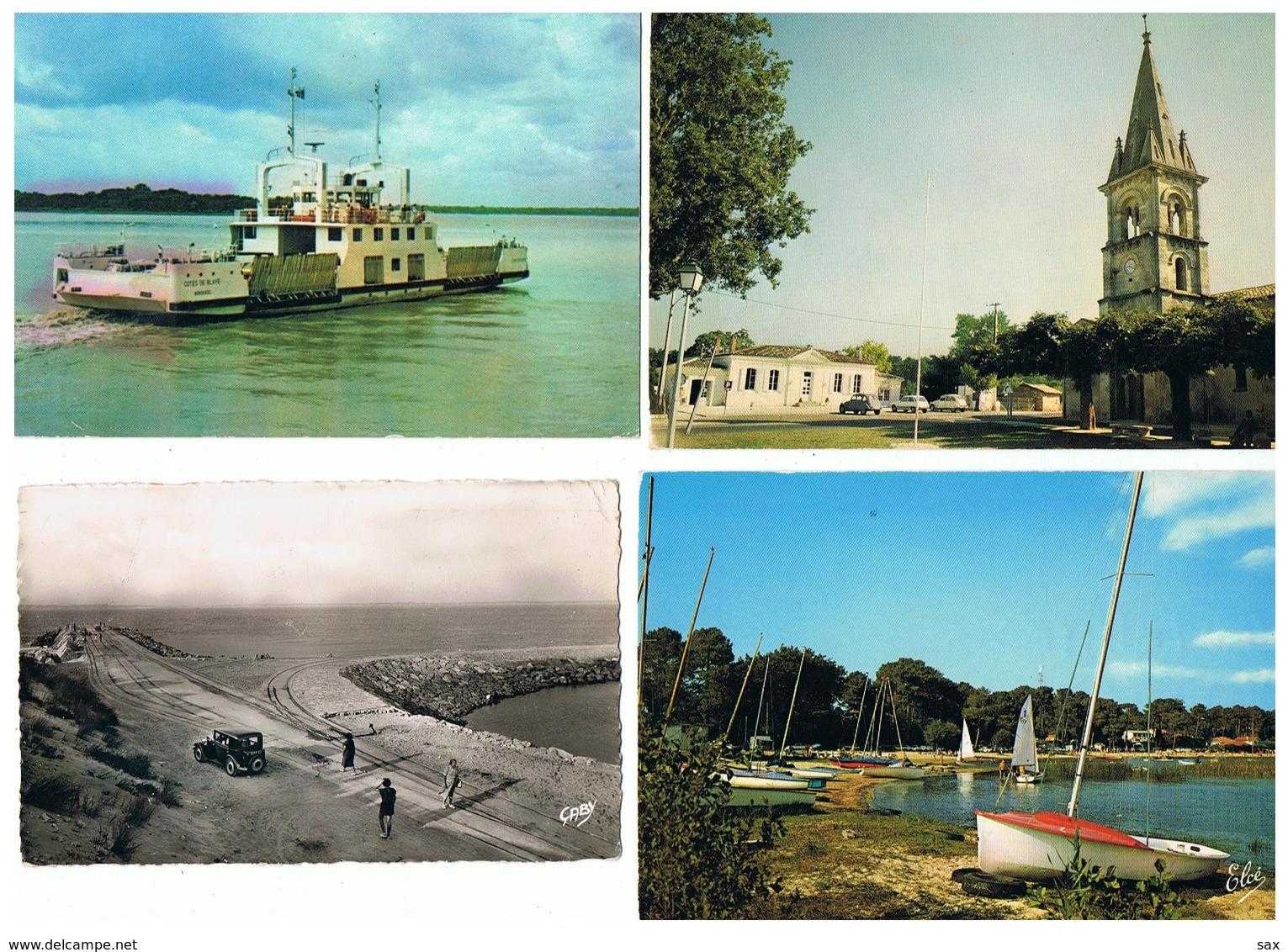 1906-638  7cp Blaye-martignas-pte De Gavres-cazaux-brannes-sauveterre-rauzan  Dep 33  Vente Retirée Le 24-02 - France