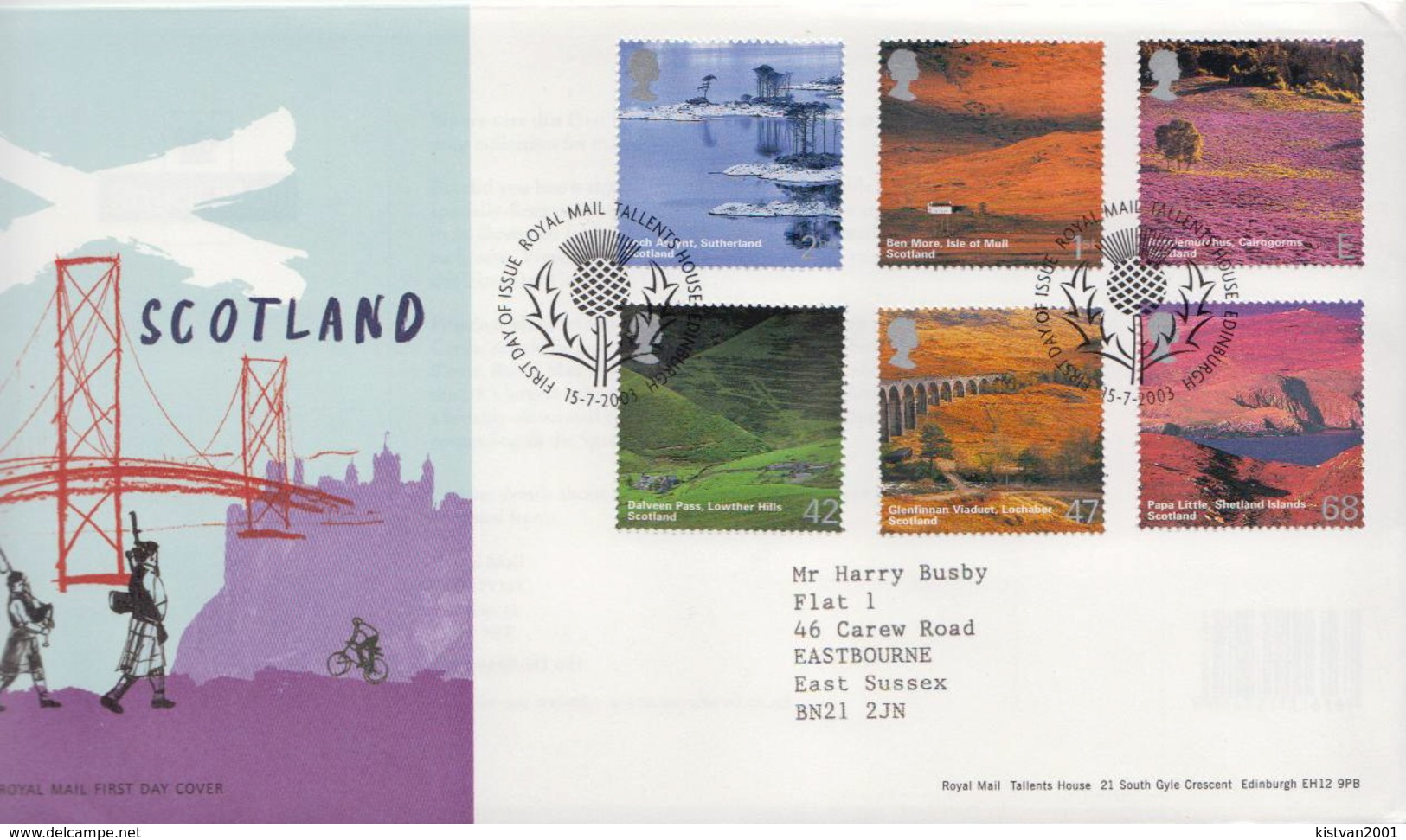 Great Britain Set On FDC - Holidays & Tourism
