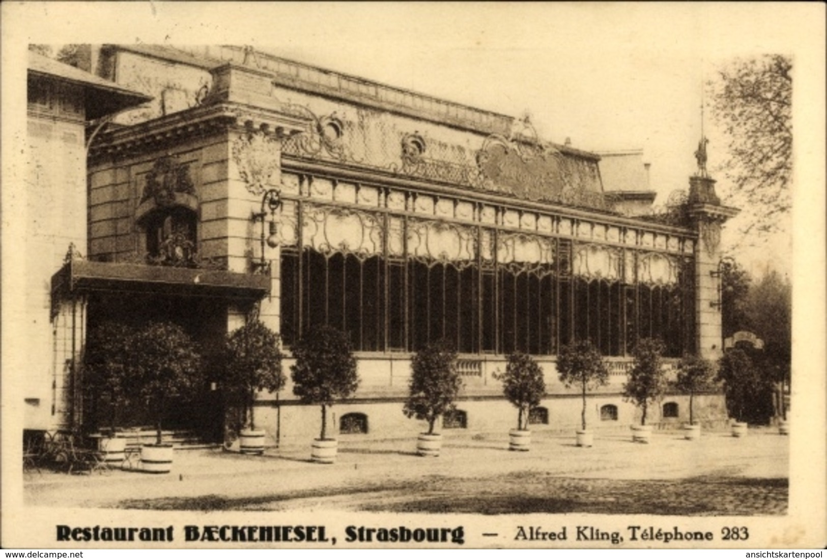 Cp Strasbourg Straßburg Elsass Bas Rhin, Restaurant Baeckehiesel, Alfred Kling - France