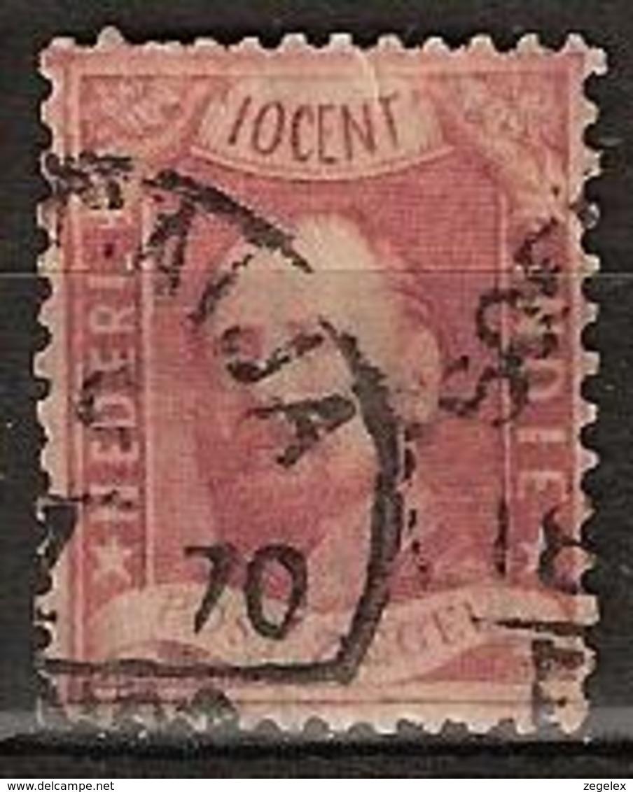 Ned Indie 1868 Koning Willem III. Stempel SOERABAIJA Op NVPH 2 See Description - Indes Néerlandaises