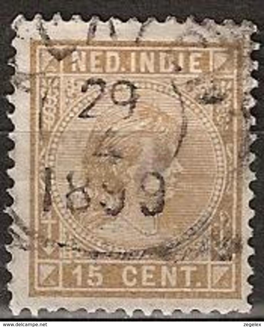 Ned Indie 1892 Wilhelmina 15 Cent NVPH 25 - Nederlands-Indië