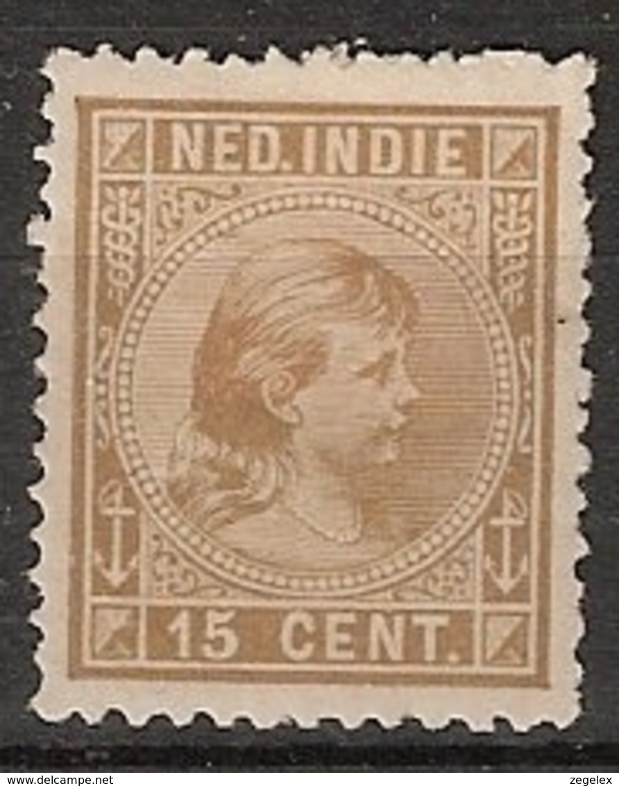 Ned Indie 1892 Wilhelmina 15 Cent NVPH 25 Ongestempeld/MH/* - Nederlands-Indië