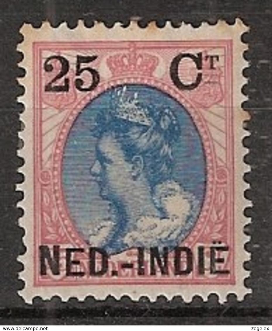 Ned Indie 1900 Hulpuitgifte 25 Ct Op 25 Ct NVPH 35 Ongestempeld - Nederlands-Indië