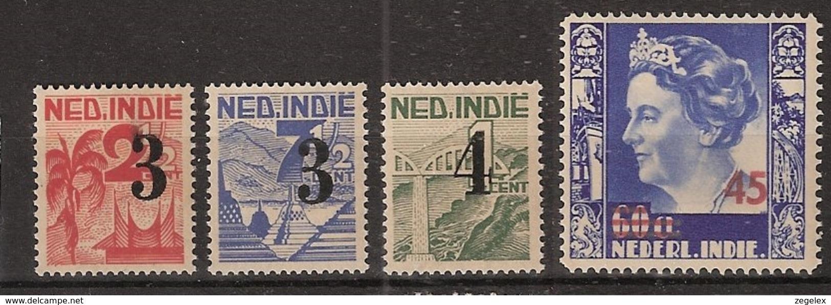 Ned Indie 1947 Hulpuitgifte NVPH 322-325 Postfrisch/MNH/** - Nederlands-Indië