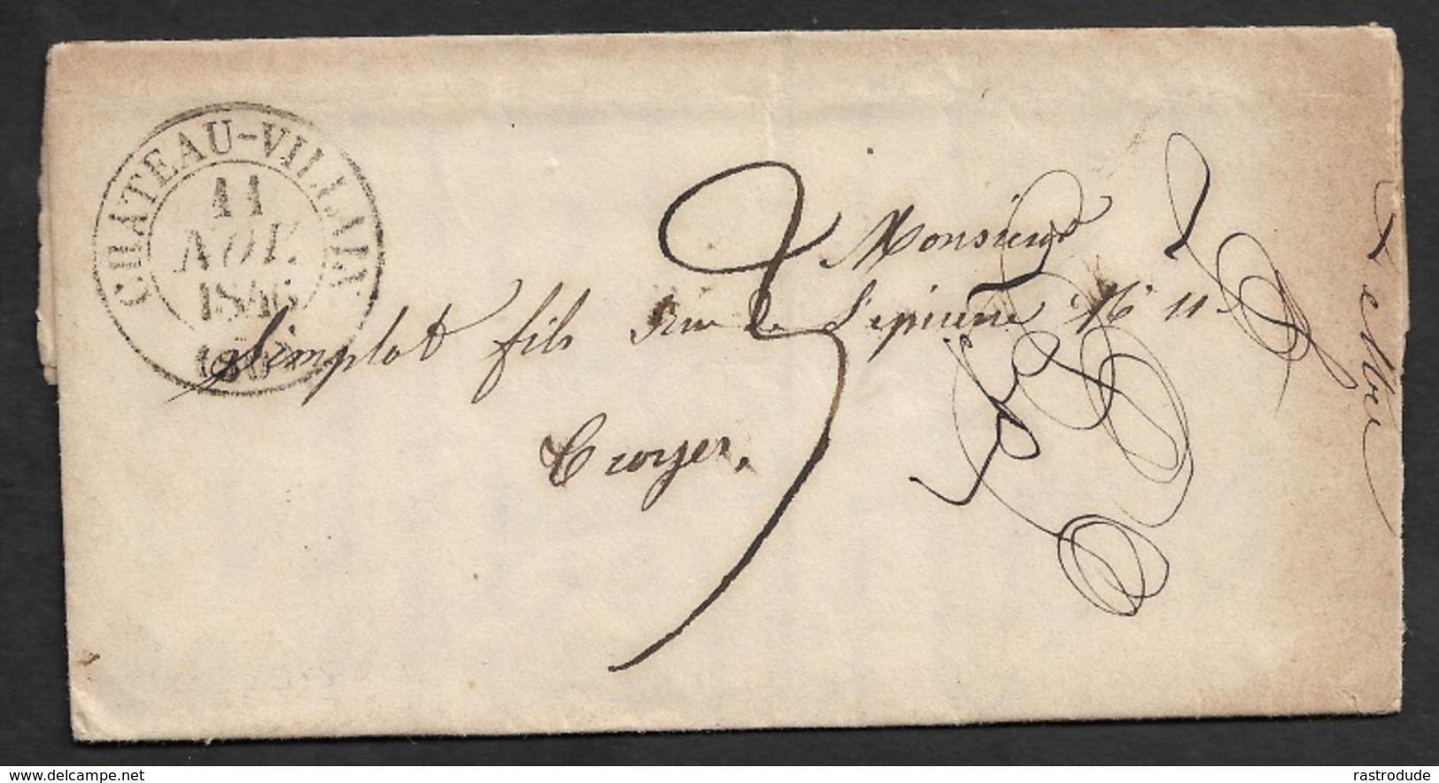 1846 - LAC - CHATEAU VILLAIN  - C.à.d Type 13 - Marcophilie (Lettres)