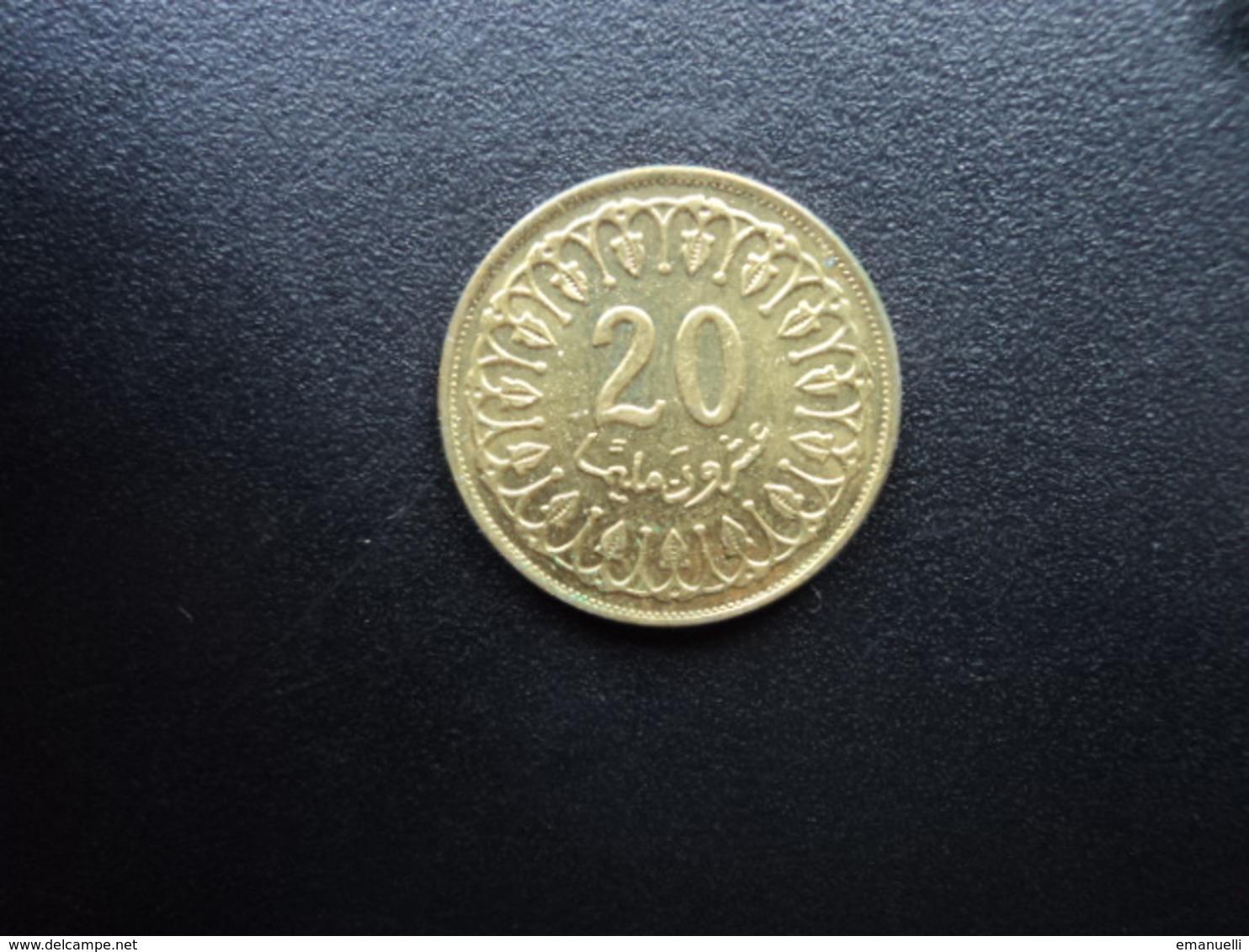 TUNISIE : 20 MILLIM   1993 - 1414   KM 307    SUP+ - Tunisie