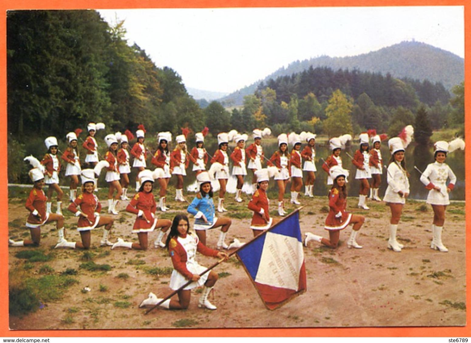 88 Les Majorettes De BROUVELIEURES BRUYERES  Finalistes Championnat De France 1973 Carte Vierge TBE - Bruyeres