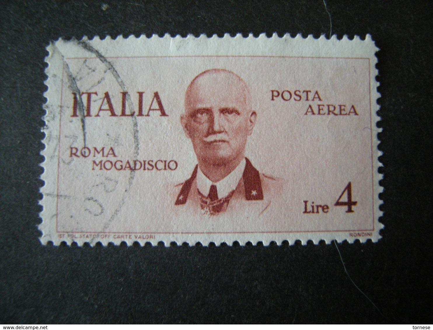 SVENDITA 1934 - , VOLO Roma Mogadiscio , L. 4 Bruno Rosso. TTB,  OCCASIONE - Usati