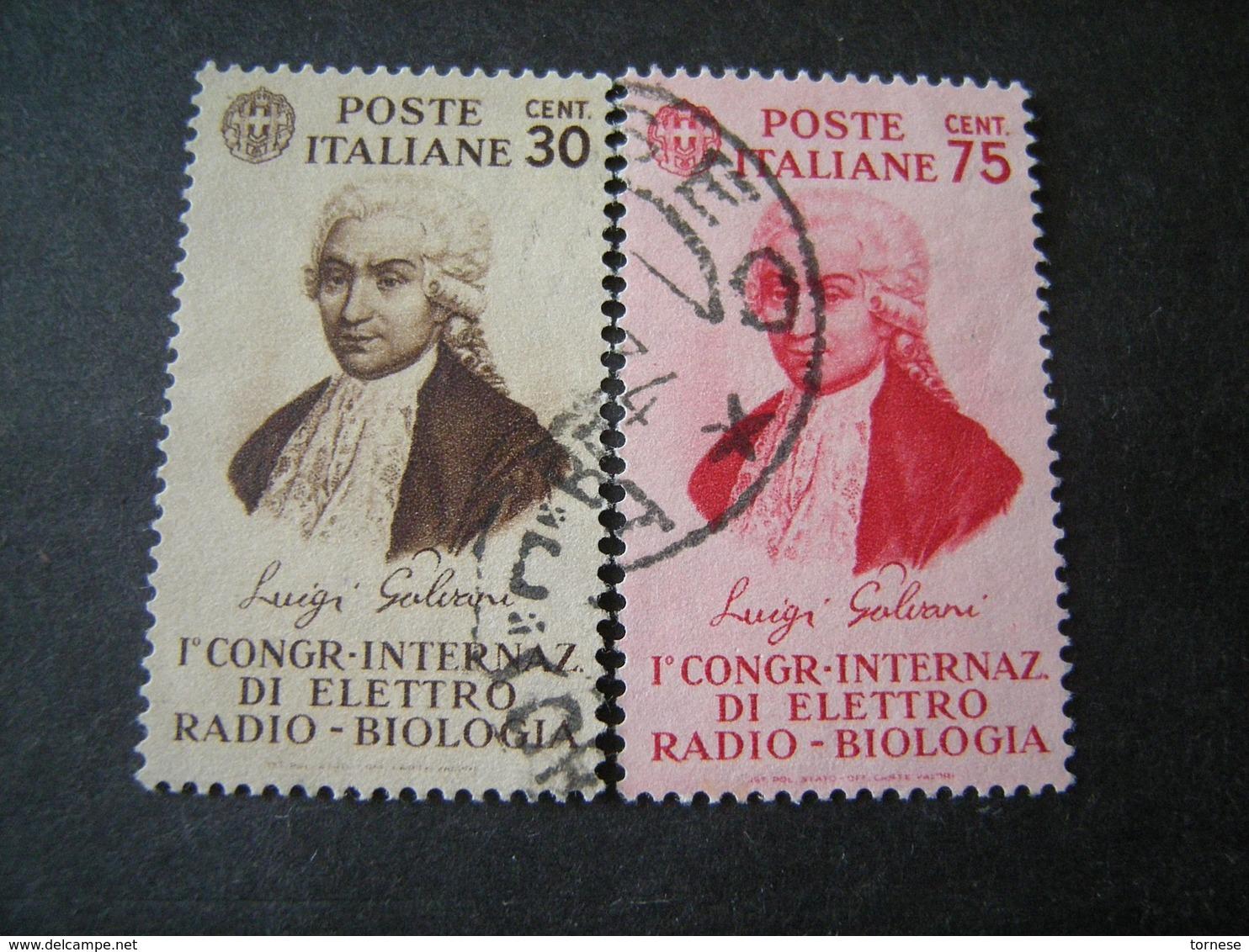 1934 - GALVANI, Serie Compl. Usata , 2 Val. TTB,  OCCASIONE - 1900-44 Vittorio Emanuele III