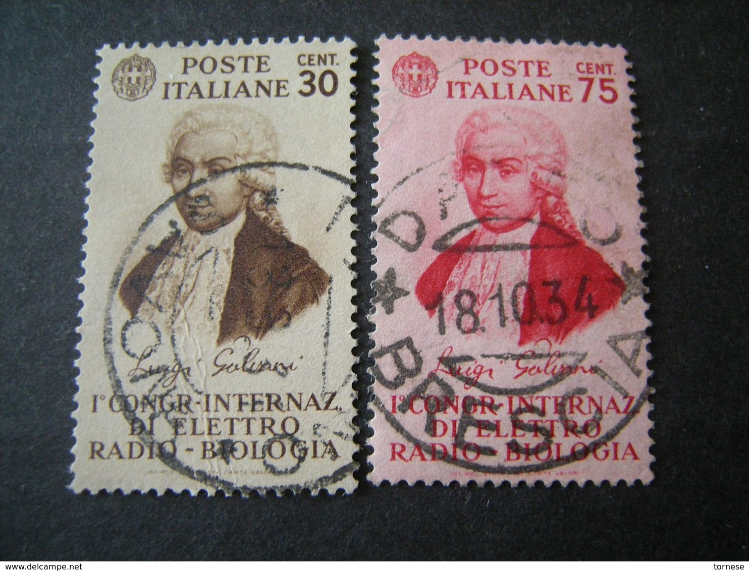 1934 - GALVANI, Serie Compl. Usata , 2 Val. TTB,  OCCASIONE - Usati