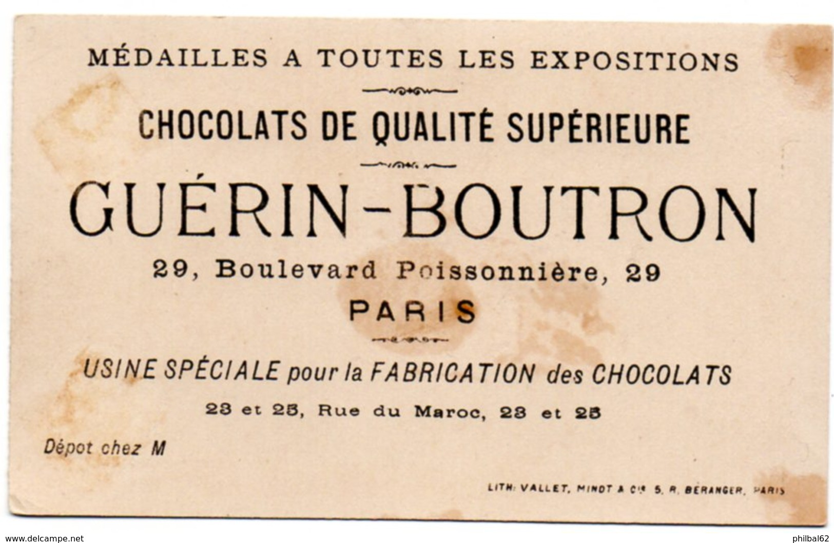 Chromo Guérin-boutron. La Chaussure étroite.... - Guerin Boutron