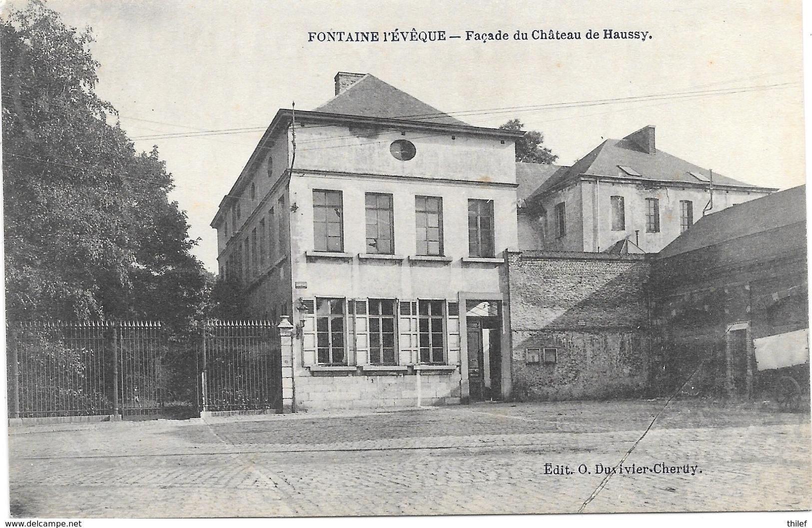Fontaine-l'Evêque NA72: Façade Du Château De Haussy 1919 - Fontaine-l'Evêque