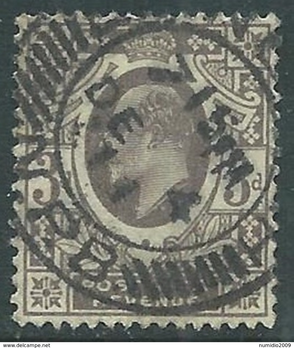 1911 GREAT BRITAIN USED SG 285 3d PURPLE LEMON - F22-2 - Usati